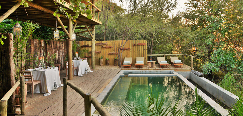 eco-friendly swimming pool at Chobe Bakwena Lodge
