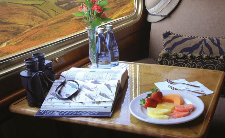 blue train safari